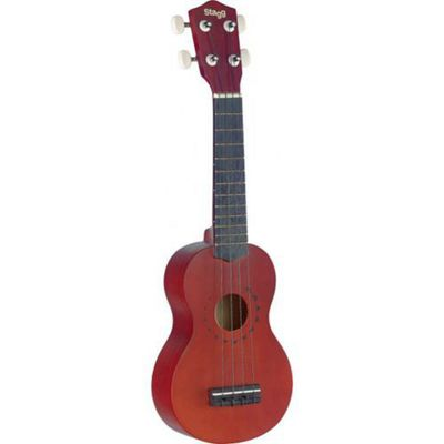 Stagg US10TATTOO Traditional Soprano Ukulele With Tattoo Design and Gigbag