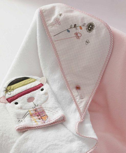 Mamas & Papas - Scrapbook Girl - Hooded Towel and Mitt