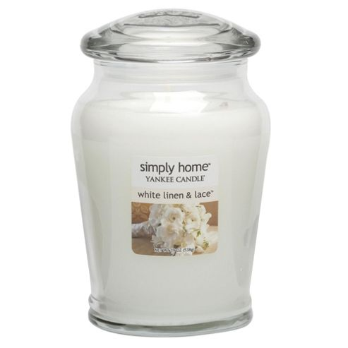 Yankee Candle Jar White Linen & Lace, Large