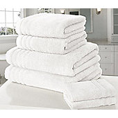 Zero Twist Hand Towel - White