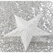 White Glitter Star Christmas Tree Decoration