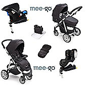 Mee-go Pramette Isofix Travel System + 2nd Stage Car Seat - Black