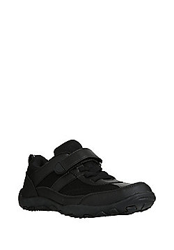 F&F Mesh Panel School Trainers - Black