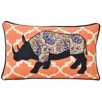 Riva Home Kruger Rhino Coral Cushion Cover - 30x50cm