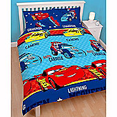 Disney Cars Piston Double Duvet Cover and Pillowcase Set
