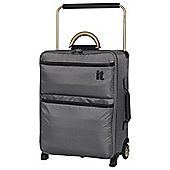 IT Luggage World's Lightest 2 wheel Small Charcoal Suitcase