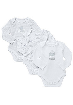 Me to You 3 Pack of Tatty Teddy Long Sleeve Bodysuits - White