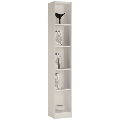 Buy Kensington Tall Narrow Bookcase Pearl White From Our