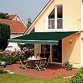 Outsunny Awning Canopy Sun Shade Manual Retractable 3.5 x 2.5m - Green