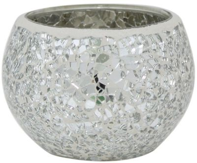 Silver sparkle Mosaic Cup Tealight Holder