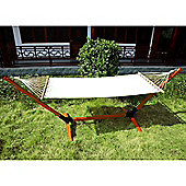 Outsunny Patio Hammock With Wood Stand Standing Frame
