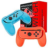 Orzly Joy Con Grips for Nintendo Switch - Twin Pack (1x Red & 1x Blue)