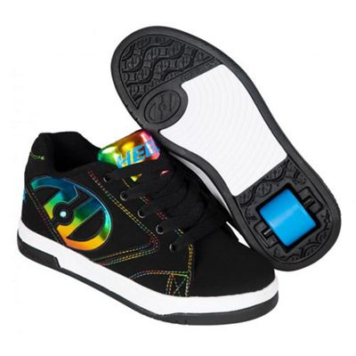 Heelys Propel 2.0 Black/Rainbow Foil Kids Heely Shoe UK 2