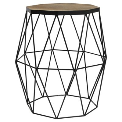 Hexagon Wire Side Table