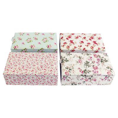 Vintage floral fabric Jewellery box