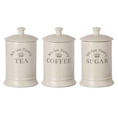 Tuftop Majestic Tea Coffee Sugar Canisters Set