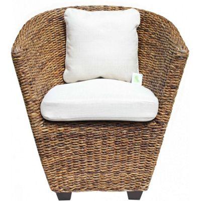 Abaca Tub Chair in Oatmeal