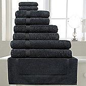 Belledorm Hotel Suite Madison 600 GSM Hand Bath Towel Sheet Black - Black