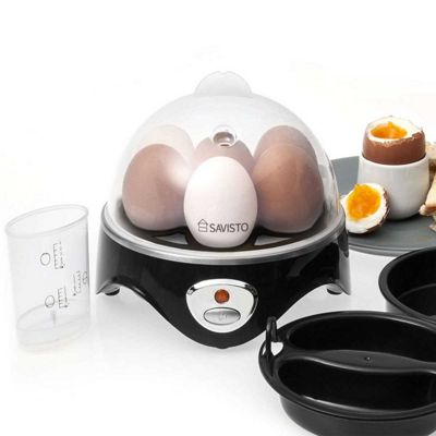 Savisto 3 in 1 Egg Boiler Poacher and Omelette Maker