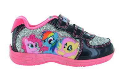Girls MLP My Little Pony Silver Glitter Hook and Loop Trainers UK Size 6