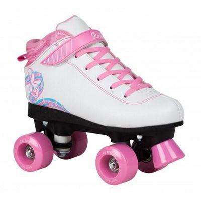 Rookie Rhythm Quad Roller Skates - White/Pink UK 4