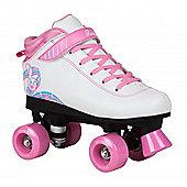 Rookie Forever Rainbow Quad Roller Skates - Black/Multi - Pink