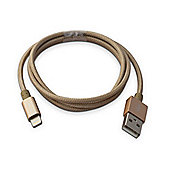 CleverCables Premium USB to Lightning iPhone Charging Cable - Braided 1.0m - Gold - Full MFI