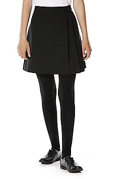 F&F School Buckle Detail Kilt Skirt - Black