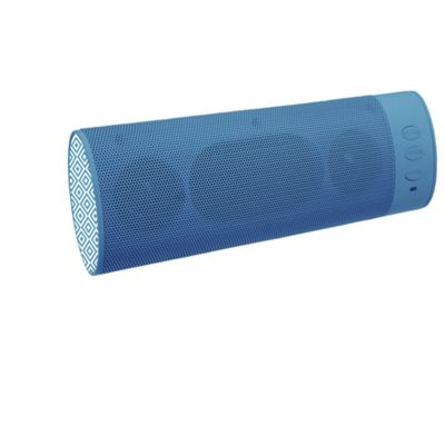 KitSound Boombar Bluetooth Speaker, Geo Pattern Blue