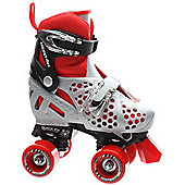 Roller Derby Trac Star 2014 Adjustable Quad Roller Skates- Grey/Red - Grey