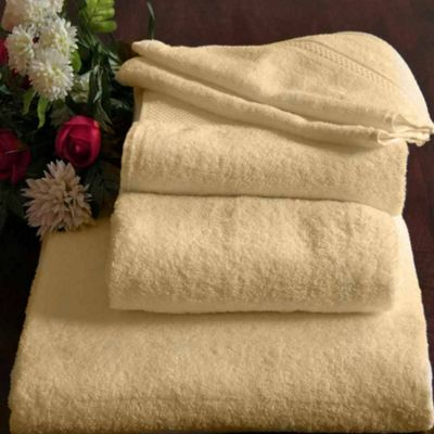 Homescapes Turkish Cotton Cream Bath Towel Set