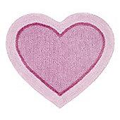 Catherine Lansfield Heart Pink Rug - 60x65cm
