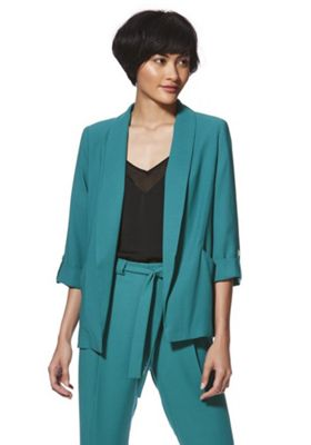F&F Open Front Tabbed Sleeve Jacket Green 10