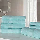 Dreamscene Luxury Egyptian Cotton 7 Piece Towel Bale Set - Aqua