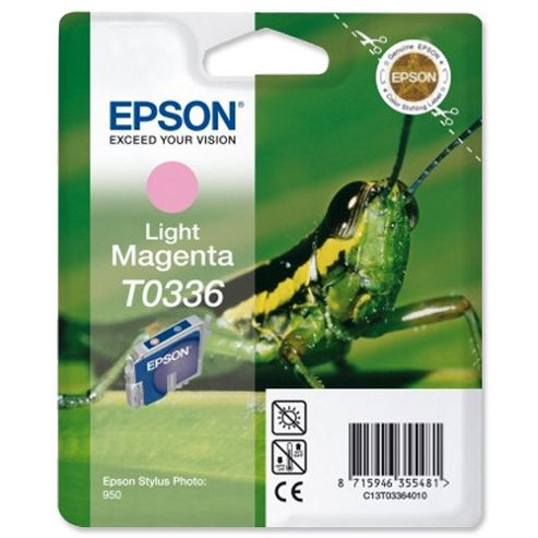 Epson T0336 Light Magenta Ink Cartridge for Stylus Photo 950 Printer