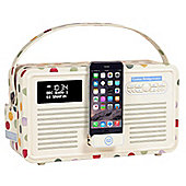 VQ Retro MK II DAB/DAB+/FM/Bluetooth Radio with Apple Lightning Dock (Emma Bridgewater: Polka Dot)