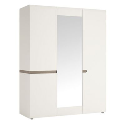 Linate 3 Door Wardrobe With Mirror and Internal shelving