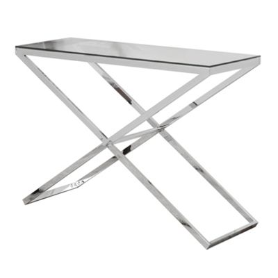 Anikka Chrome and Glass Console - Hallway Table