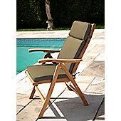 Reclining Chair Garden Cushion Taupe