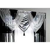 "Plain Voile Swags With Tassel - 20x18"" - Black"