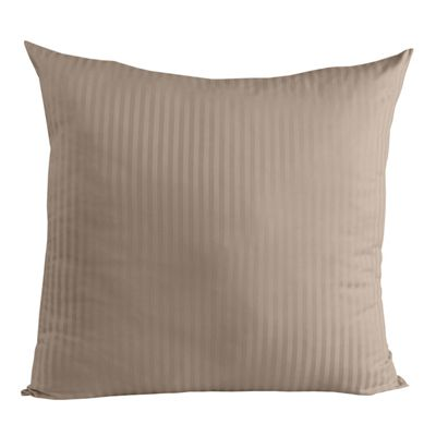 Homescapes Taupe Beige Continental Square Pillowcase 100% Egyptian Cotton Pillow Cover 330 TC, 40 x 40 cm