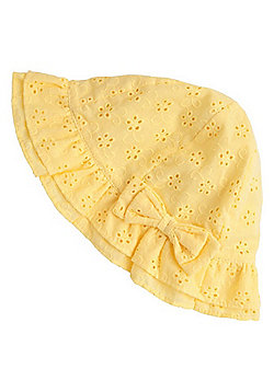 F&F Broderie Anglaise Sun Hat - Yellow