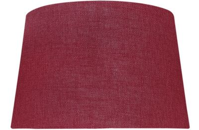 Red 13 Inch Linen Empire Shade (Dual Fitting)