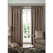 Solitaire Ready Made Pencil Pleat Curtains - Fully Lined - 4 Colours available - Brown