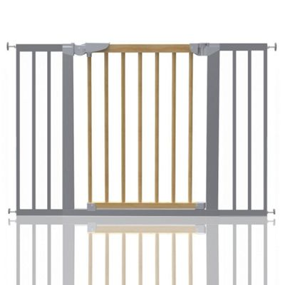 Safetots Beechwood and Metal Pressure Fit Gate 109.7 - 117.1cm