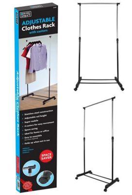 Single Adjustable Mobile Clothes Rail