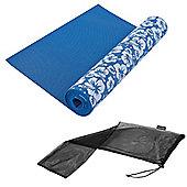 Tunturi Yoga Mat / Exercise Mat with Flower Print