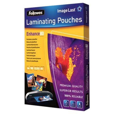 Buy Fellowes Laminating Pouches 80 Mic A4 100pk From Our