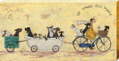 Sam Toft The Doggie Taxi Service Large Canvas Print