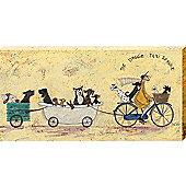 Sam Toft The Doggie Taxi Service Large Canvas Print